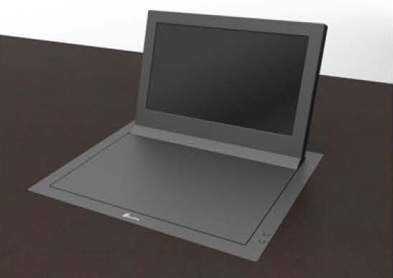 Albiral Electrically Folding Monitors with 20 Degree Tilt