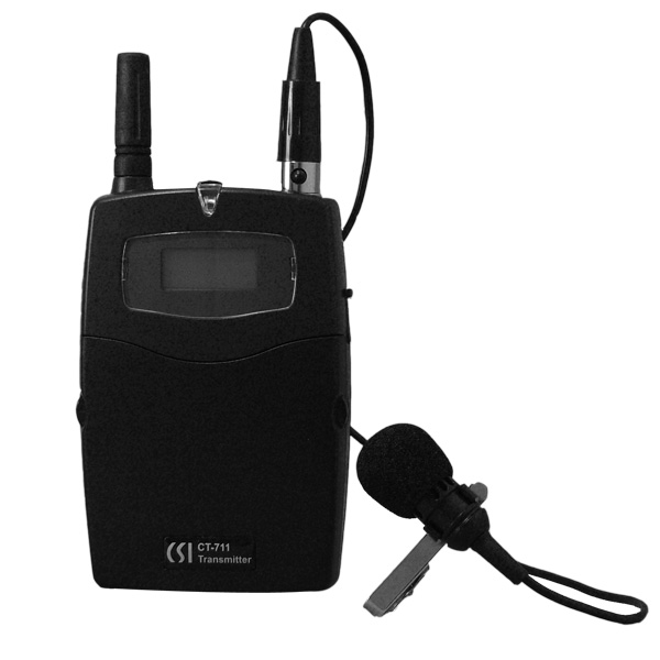 CT-711 Transmitter with MC-16 Lavalier Microphone