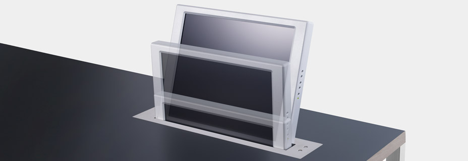 Dynamic 1 Twin Double-Sided Electrically Retractable Monitors